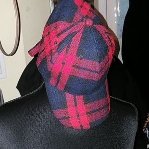 David & Young red plaid adjustable hat
